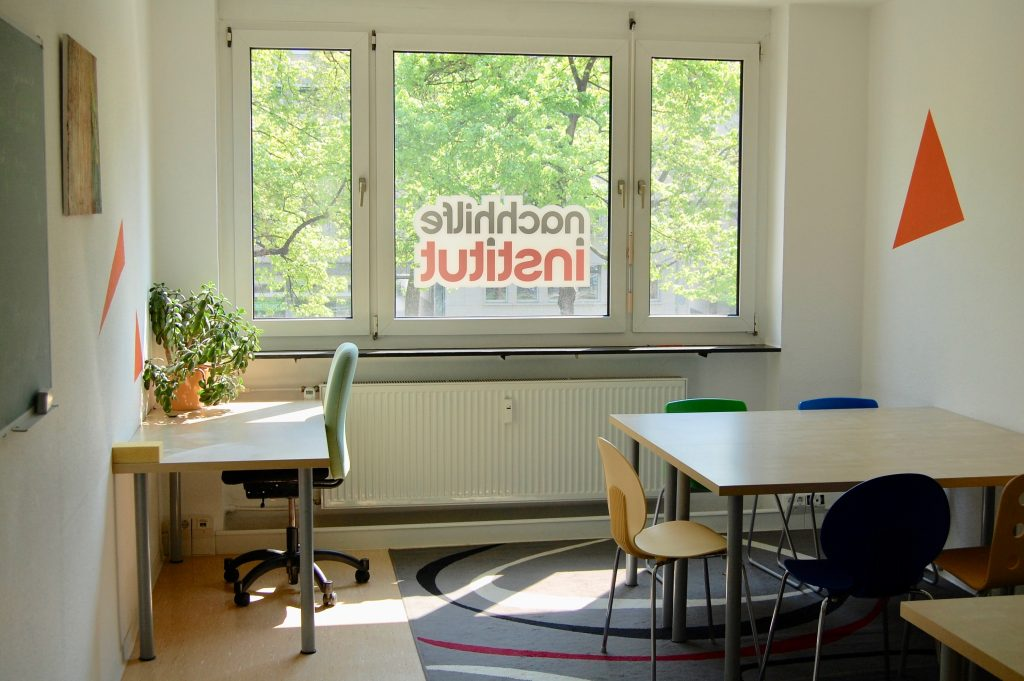 Der orangene Raum im Mainzer Faultier